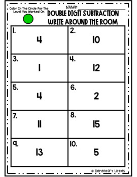 Write The Room-Double Digit Subtraction