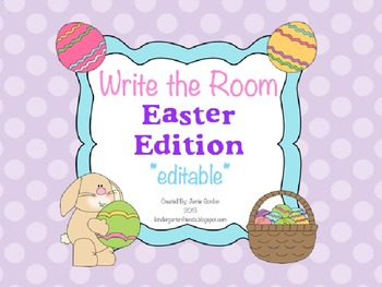 Write The Room - Easter Edition *editable*