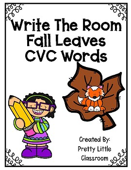 Write The Room Fall Leaves CVC Words