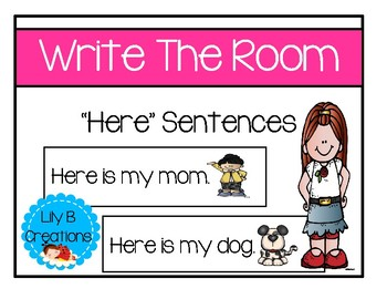 "Write The Room ~ ""Here"" Sentences"