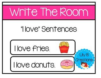 "Write The Room - ""I Love"" Sentences"