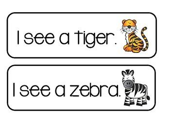 "Write The Room - ""I See"" Zoo Animals"