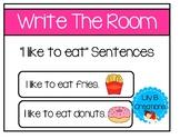 "Write The Room - ""I like to eat"" Sentences"