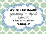 Write The Room: January - April Bundle *editable*