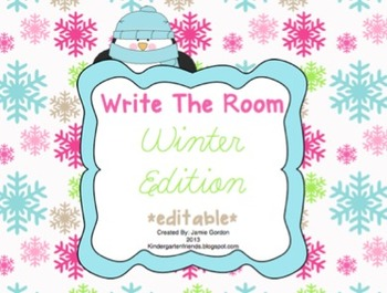 Write The Room: January - April Bundle *editable*