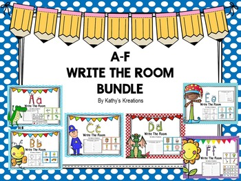 Write The Room Letters A-F Bundle