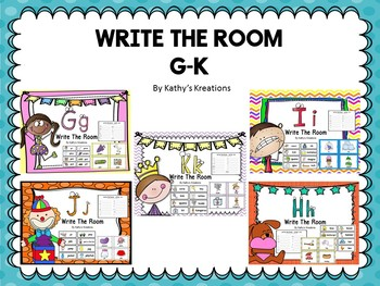 Write The Room Letters G-K Bundle