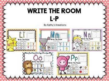 Write The Room Letters L - P Bundle