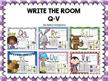 Write The Room Letters Q - V Bundle