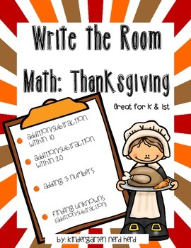 Write The Room Math: Thanksgiving