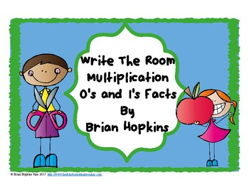 Write The Room Multiplication 0's and 1's Facts