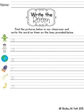Write The Room - Outer Space Theme