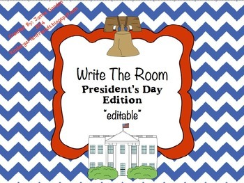 Write The Room - President's Day Edition *editable*