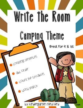 Write The Room Reading: Camping Theme