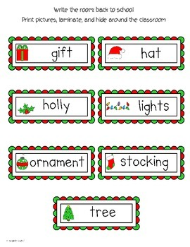 Write The Room Reading: Christmas Theme