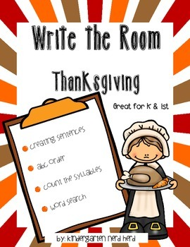 Write The Room Reading: Thanksgiving Theme