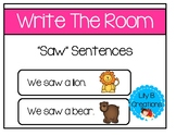 "Write The Room - ""Saw"" Sentences"