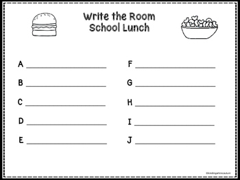 Write The Room -School Lunch