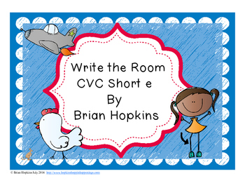 Write The Room Short E Words