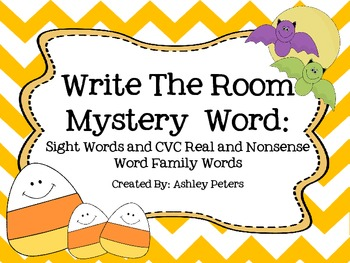 Write The Room: Sight Words & CVC Real/Nonsense Words