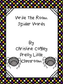 Write The Room Spiders