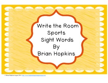 Write The Room Sports Sight Words FREEBIE