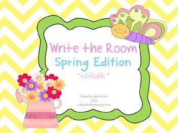 Write The Room - Spring Edition *editable*