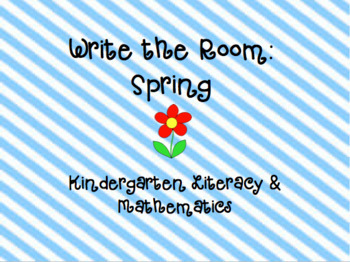 Write The Room: Spring {Literacy & Math}