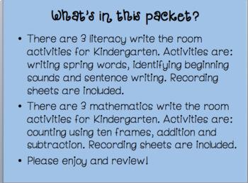 Write The Room: Spring {Literacy & Math}