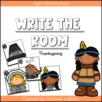 Kindergarten Write The Room -Thanksgiving {Freebie}