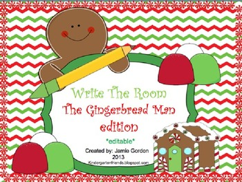 Write The Room - The Gingerbread Man Edition *editable*