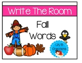 Write The Room Three Different Ways - Fall Words