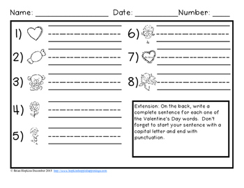 Write The Room Valentines Day Beginning Sounds