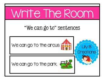 "Write The Room ~ ""We can go to"" sentences"