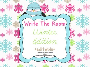 Write The Room - Winter Edition *editable*