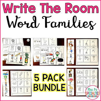 Write The Room Word Families BUNDLE!