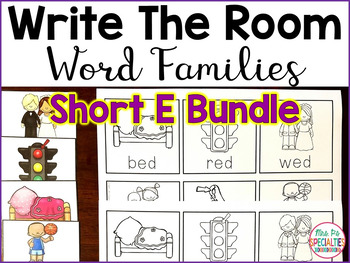 Write The Room Word Families: Short E Edition