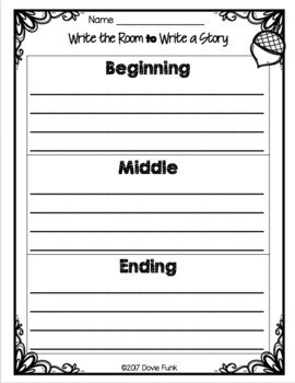 Write The Room to Write A Story - Fall Writing Activity AUTUMN
