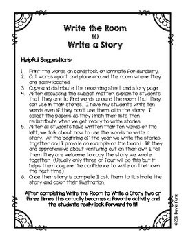 Spring Writing Activity Kindergarten - Write the Room