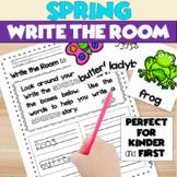 Spring Writing Activity Kindergarten - Write the Room