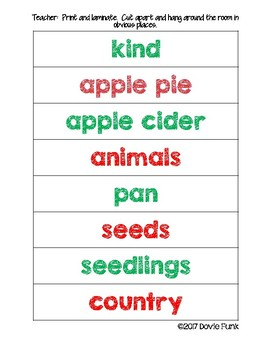 Write The Room to Write A Story - Johnny Appleseed Writing Activity