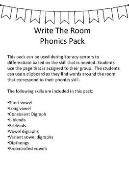 Phonics Write the Room