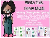 Write This & Draw That!{Spring story starters w topic cards & printables}