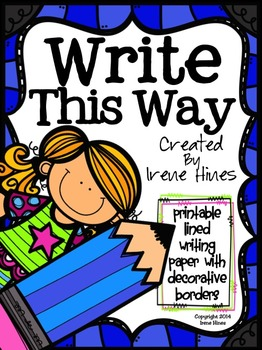 Write This Way ~ Decorative Printable Lined Writing Paper Set