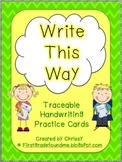 Write This Way: Traceable Handwriting Cards