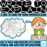 Write To Explain How To Guide: Creating Word Problem Model