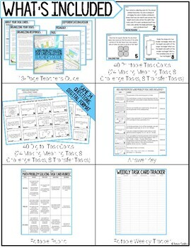 Math Problem Solving Task Cards: Area and Perimeter Word Problems