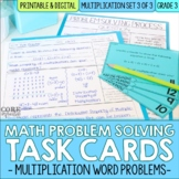 Multiplication Word Problem Solving Task Cards for Third G