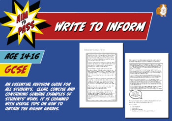 Write To Inform For GCSE English (14-16 years)