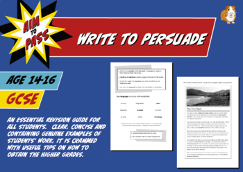 Write To Persuade For GCSE English (14-16 years)